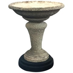 Large English Garden Stone Planter on Stand (H 39 3/4 x Diameter 33 3/4)