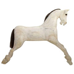 Large English Early 20th Century Wooden Horse