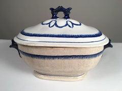 Large English Featherware Soup Tureen, 19th C.