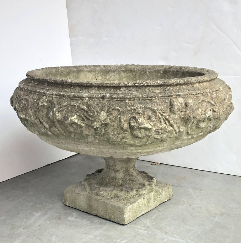 Large English Garden Stone Urn Or Planter For Sale At 1stdibs