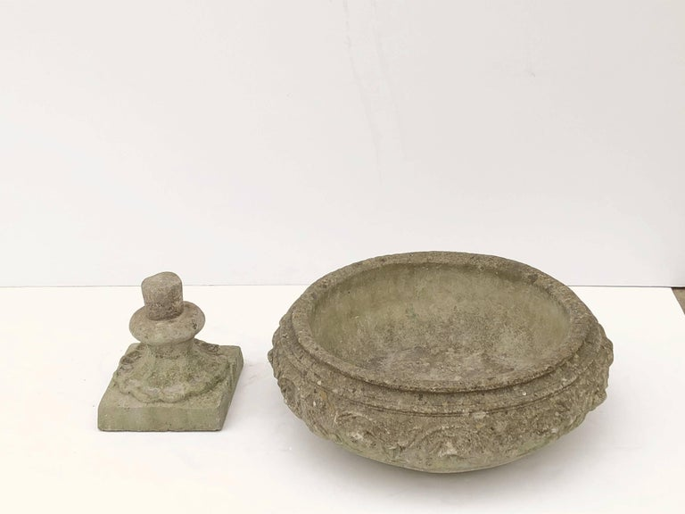 Large English Garden Stone Urn or Planter For Sale 3