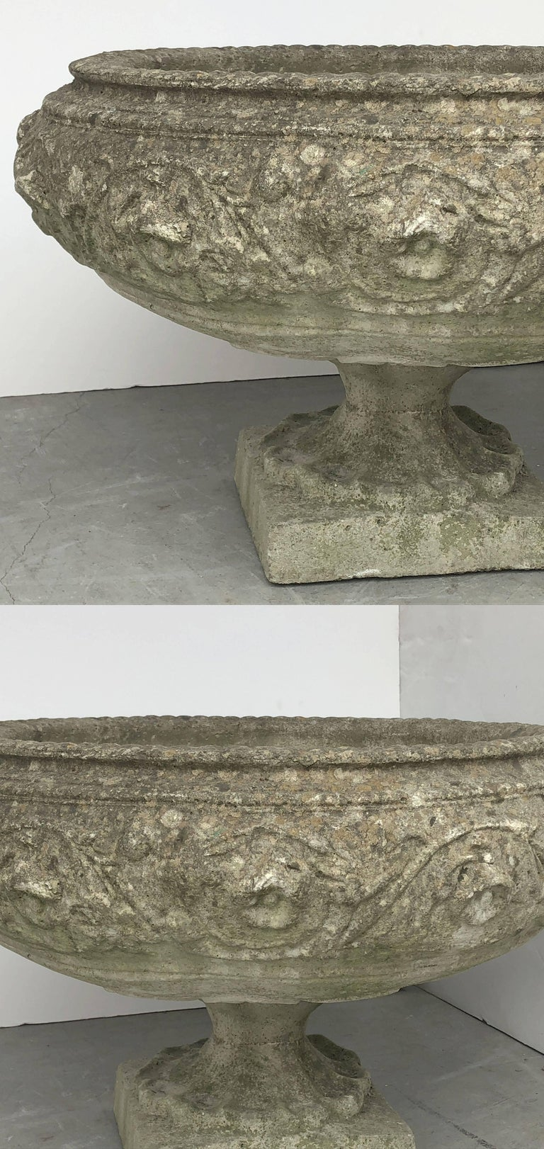 Large English Garden Stone Urn or Planter For Sale 4