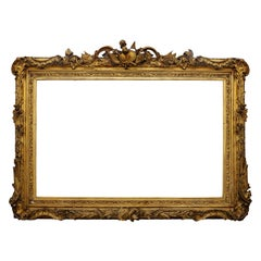 Large English George IV Carved Wood and Gilded Waterloo Frame, circa 1825