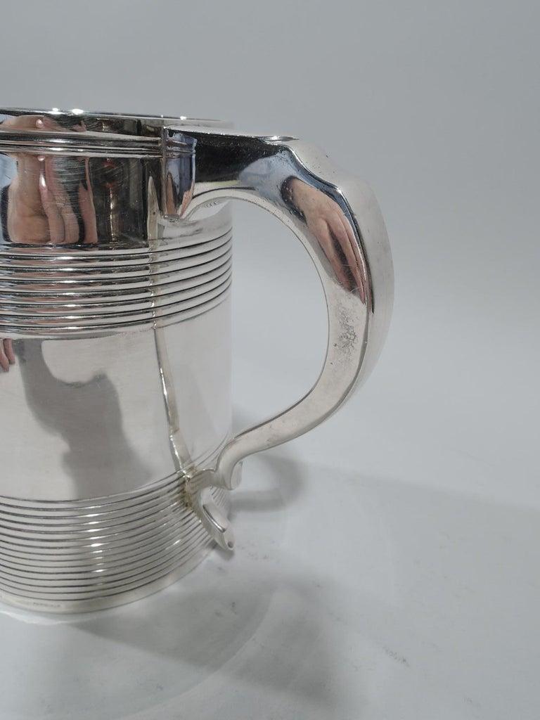 Large English Georgian Sterling Silver Mug 1