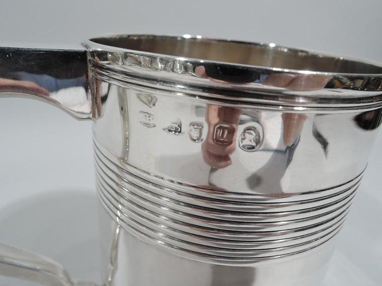 Large English Georgian Sterling Silver Mug 3