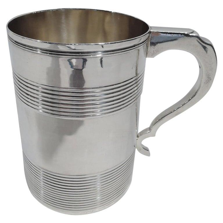 Large English Georgian Sterling Silver Mug
