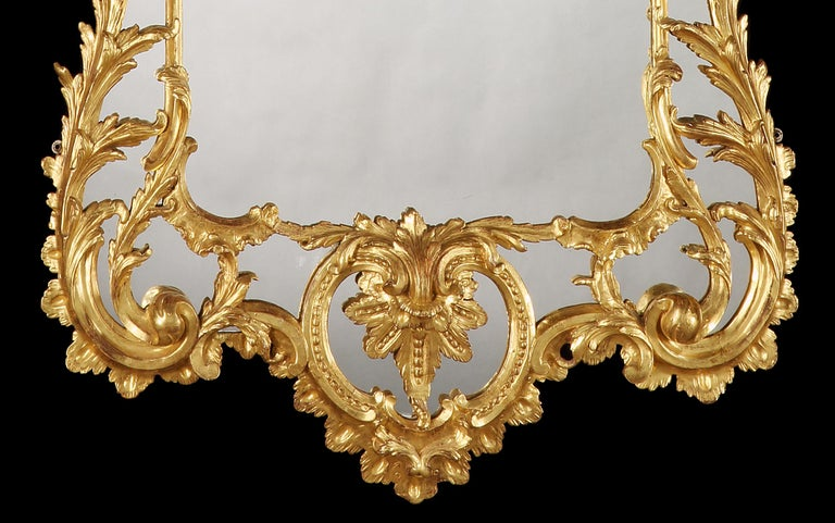 George II Large English Giltwood Mirror in the 18th Century Style For Sale
