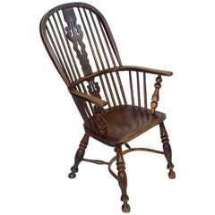 Large English High Back Windsor Armchair