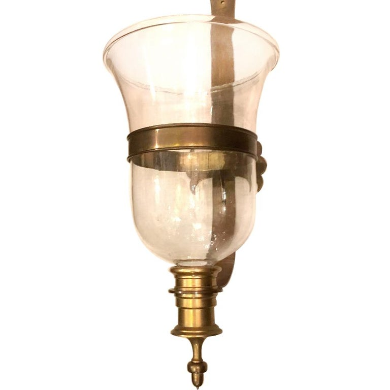 Large English Hurricane Sconce In Good Condition For Sale In New York, NY
