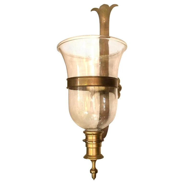 Large English Hurricane Sconce For Sale
