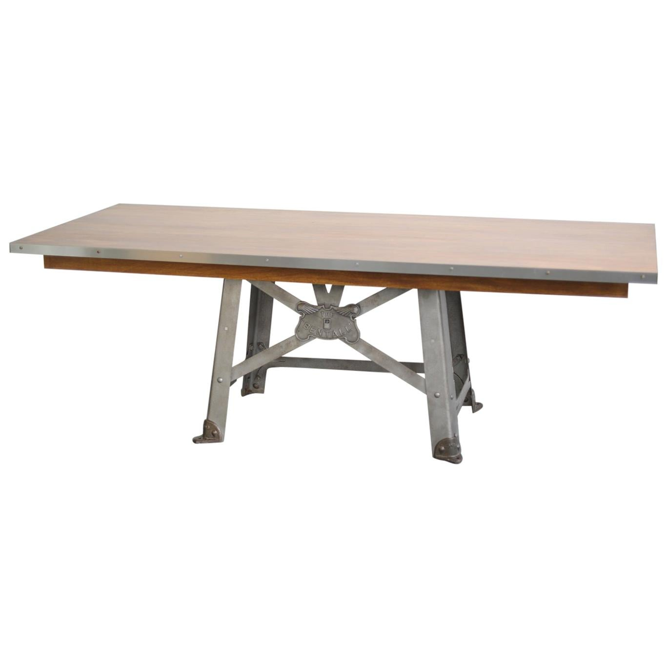 Large English Industrial Table by Benthall, circa 1910