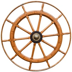 Large English Nautical Wheel