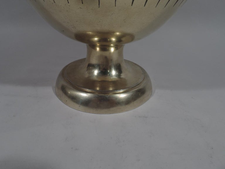 Large English Neo-Grec Gilt Sterling Silver Amphora Trophy Cup For Sale 6