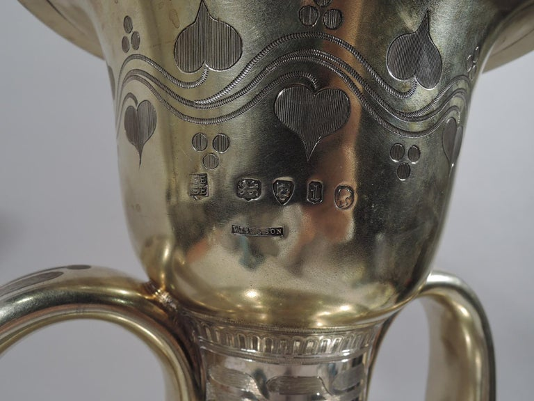 Large English Neo-Grec Gilt Sterling Silver Amphora Trophy Cup For Sale 7