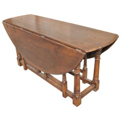 Large English Oak Gate Leg Table