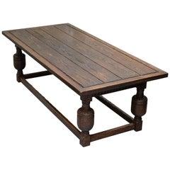 Large English Oak Jacobean Style Refectory Dining Table Sets Upto 10
