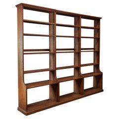 Large English Oak Modular Open Bookcase/s