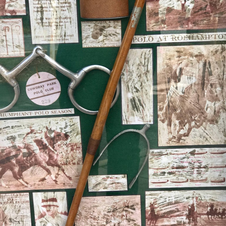 Mid-20th Century Large English Polo Diorama For Sale