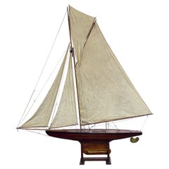 """Large English Pond Yacht on Stand, """"My Fair Lady"""""""