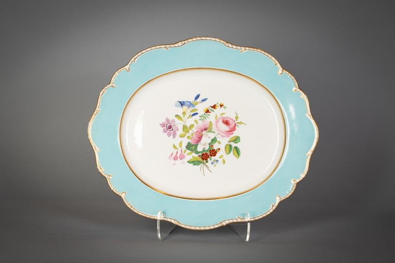 Large English Porcelain Dinner Service, Minton, circa 1845 For Sale 1