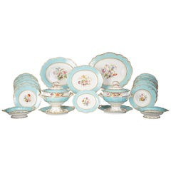 Large English Porcelain Dinner Service, Minton, circa 1845