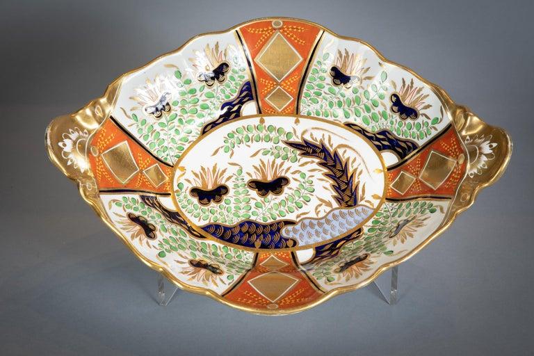 Large English Porcelain Imari Pattern Dessert and Tea Service, Spode, circa 1815 For Sale 7