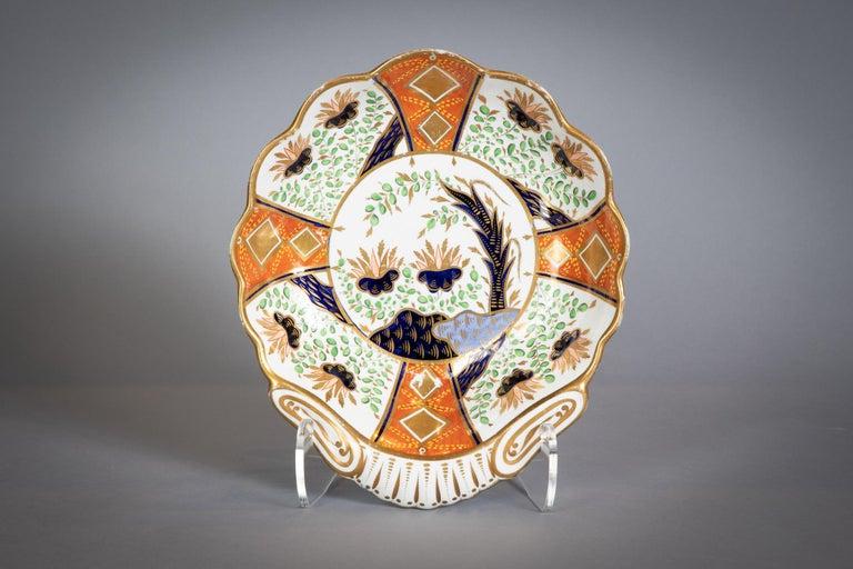 Large English Porcelain Imari Pattern Dessert and Tea Service, Spode, circa 1815 For Sale 8