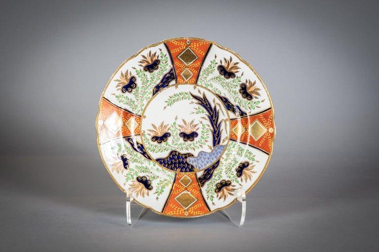 Large English Porcelain Imari Pattern Dessert and Tea Service, Spode, circa 1815 For Sale 9