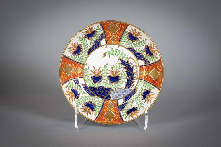 Large English Porcelain Imari Pattern Dessert and Tea Service, Spode, circa 1815 For Sale 10