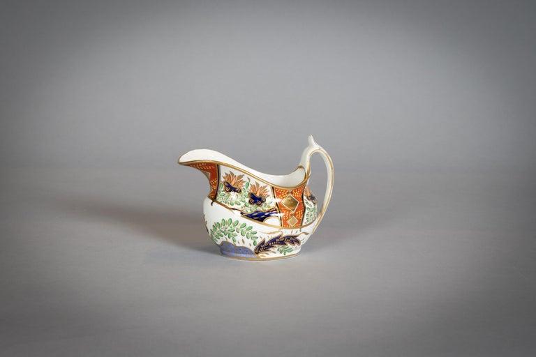 Large English Porcelain Imari Pattern Dessert and Tea Service, Spode, circa 1815 For Sale 1