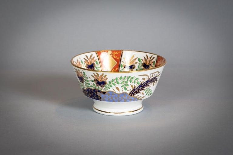 Large English Porcelain Imari Pattern Dessert and Tea Service, Spode, circa 1815 For Sale 2