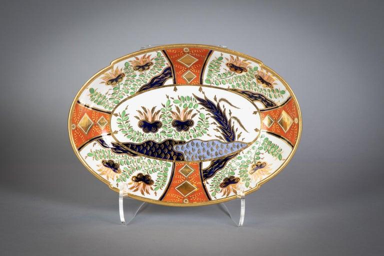 Large English Porcelain Imari Pattern Dessert and Tea Service, Spode, circa 1815 For Sale 4