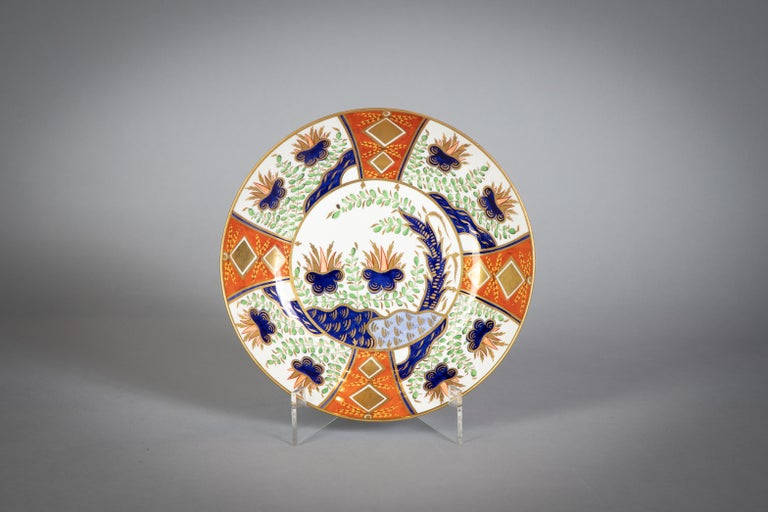 Large English Porcelain Imari Pattern Dessert and Tea Service, Spode, circa 1815 For Sale 5