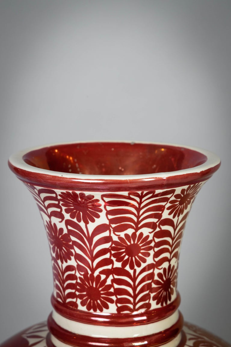 Large English Porcelain Ruby Lustre Vase, William De Morgan, circa 1900 For Sale 5