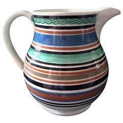Large English Pottery Mocha Jug, circa 1800-1820