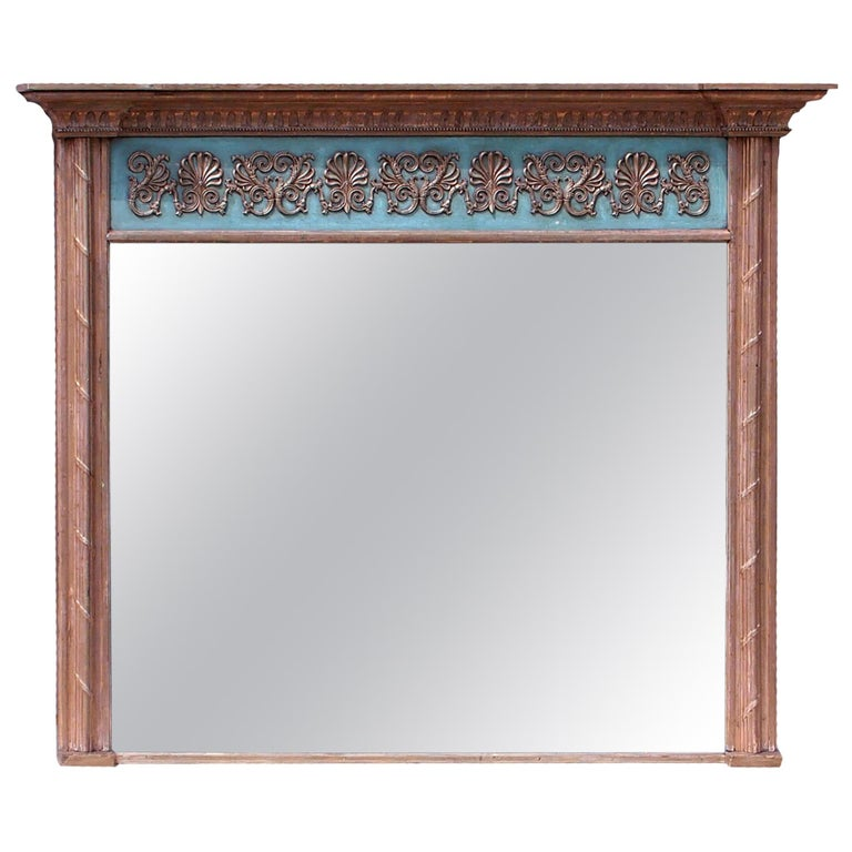 Large English Regency Giltwood Overmantle Mirror