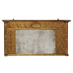 Large English Regency Overmantle Mirror, circa 1810