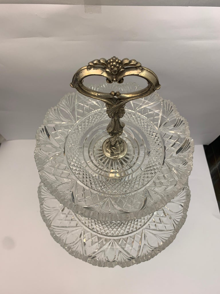 Large English Silver Plated Cake Stand, 19th Century In Good Condition For Sale In London, London