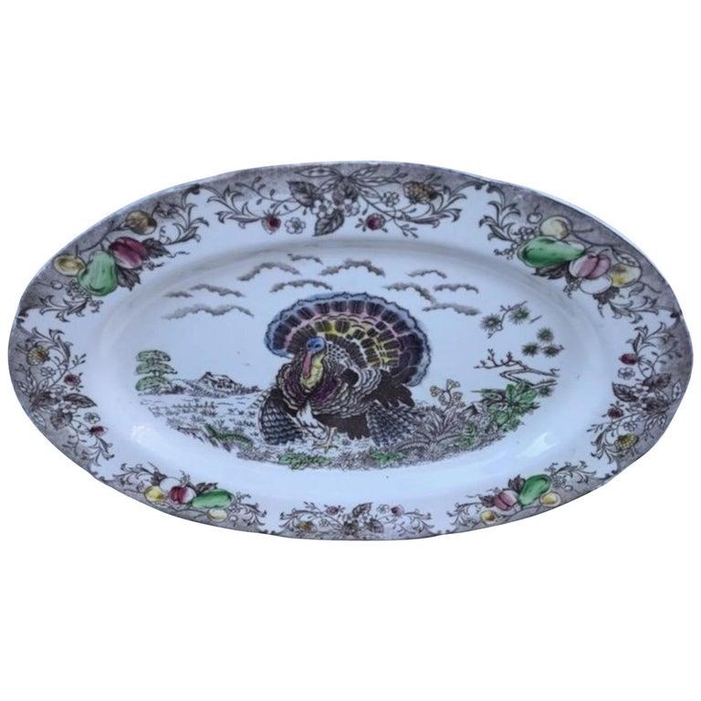 Large English Turkey Platter, Johnson Bros. For Sale