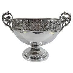 Large English Victorian Classical Centerpiece Bowl by Elkington