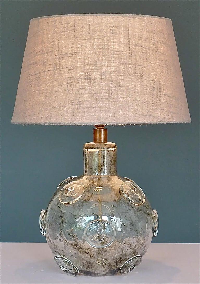 Large Ercole Barovier Crepuscolo Table Lamp Murano Glass Art Deco, 1930s For Sale 4
