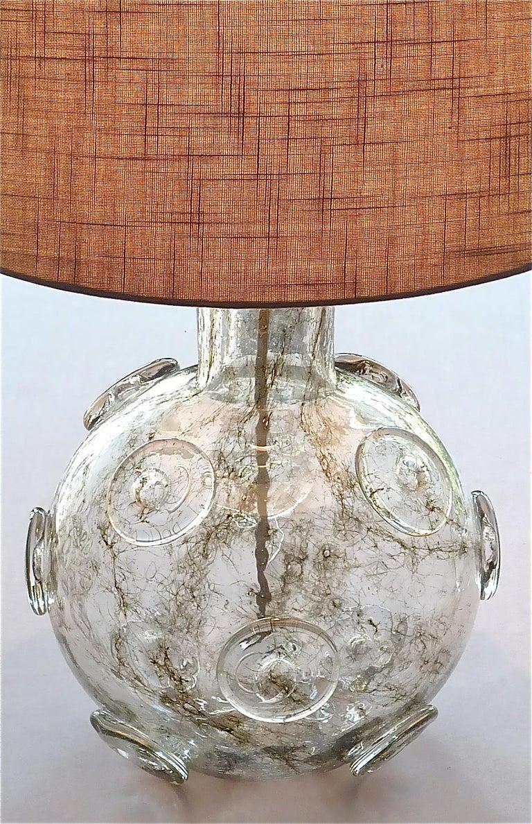 Large Ercole Barovier Crepuscolo Table Lamp Murano Glass Art Deco, 1930s For Sale 7