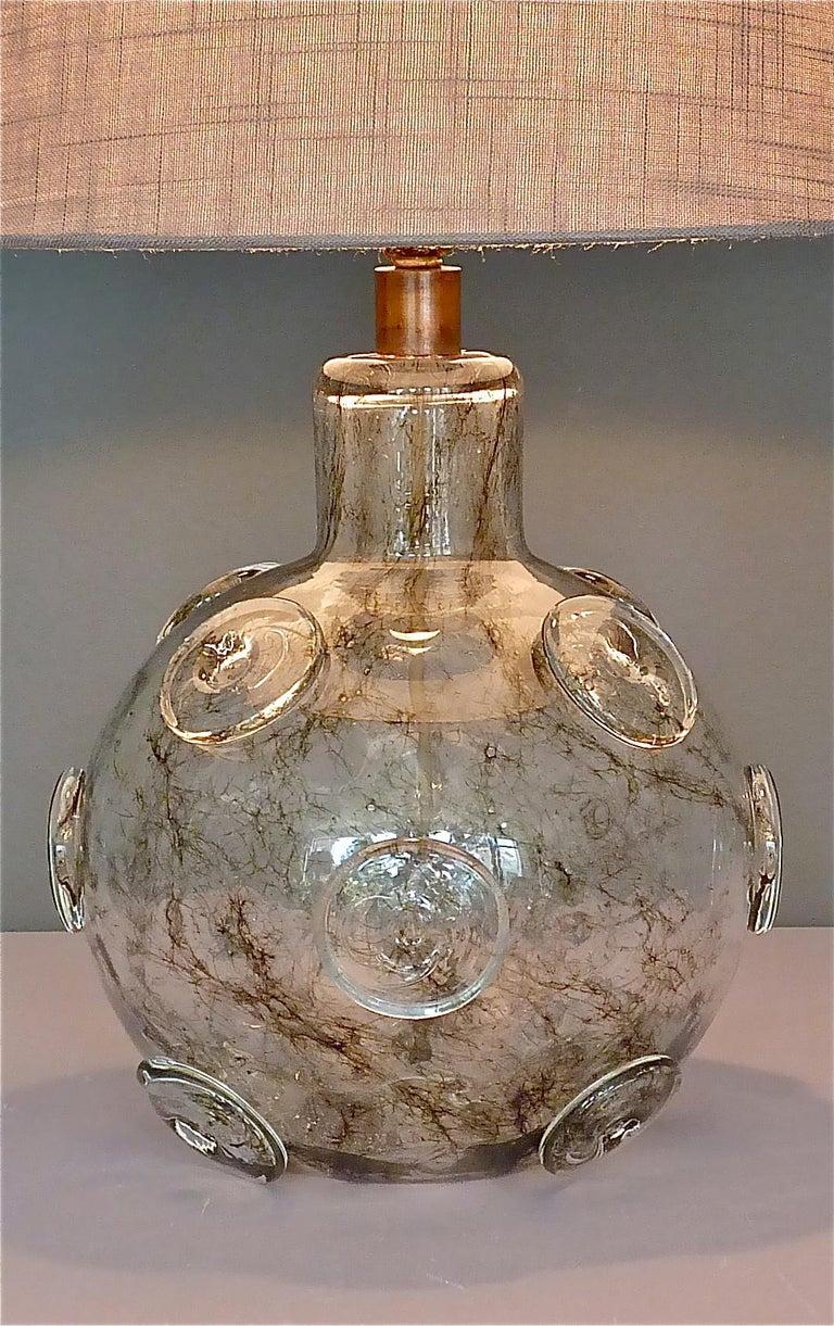 Large Ercole Barovier Crepuscolo Table Lamp Murano Glass Art Deco, 1930s For Sale 11