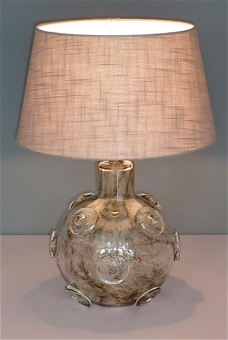 Large Ercole Barovier Crepuscolo Table Lamp Murano Glass Art Deco, 1930s For Sale 12