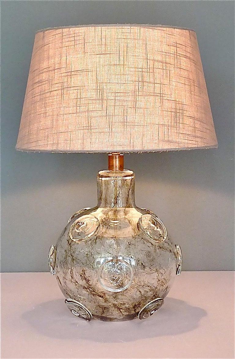 Large Ercole Barovier Crepuscolo Table Lamp Murano Glass Art Deco, 1930s For Sale 13
