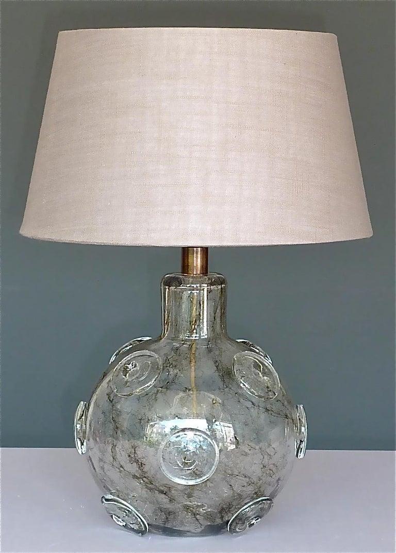 Italian Large Ercole Barovier Crepuscolo Table Lamp Murano Glass Art Deco, 1930s For Sale
