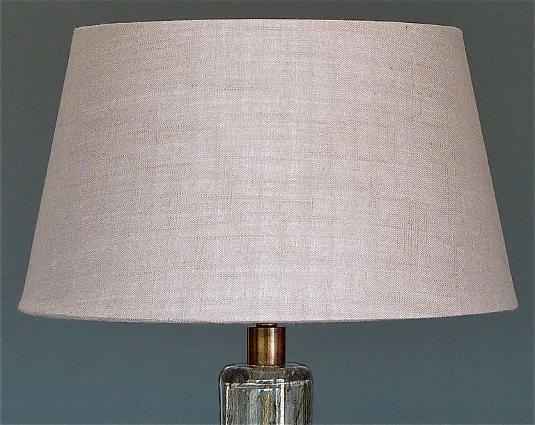 Hand-Crafted Large Ercole Barovier Crepuscolo Table Lamp Murano Glass Art Deco, 1930s For Sale