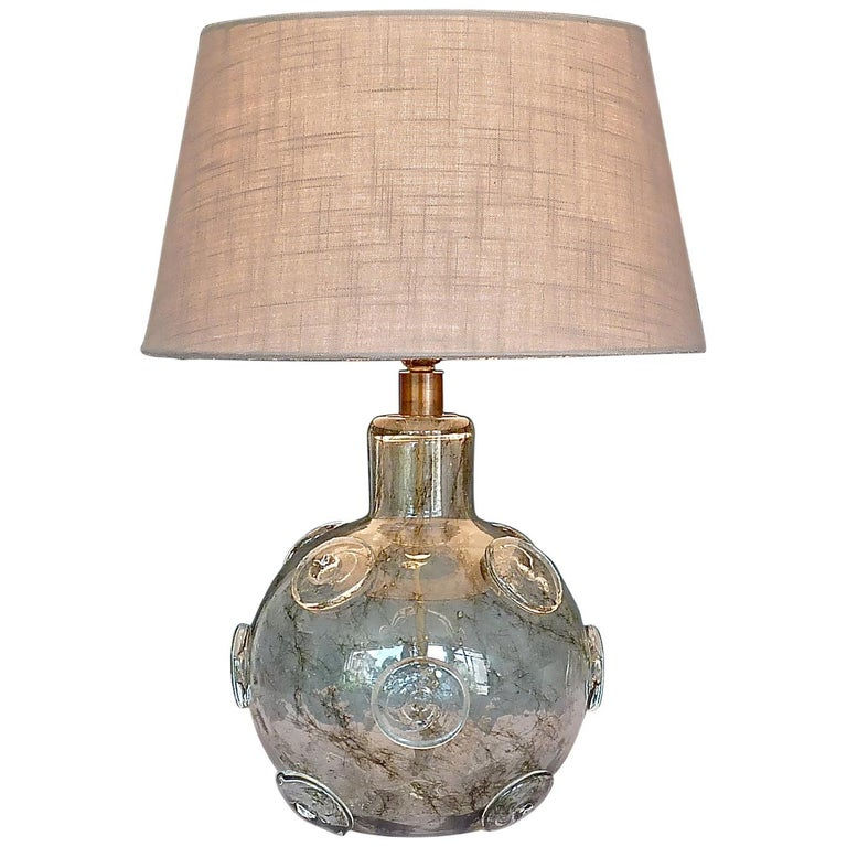 Large Ercole Barovier Crepuscolo Table Lamp Murano Glass Art Deco, 1930s For Sale