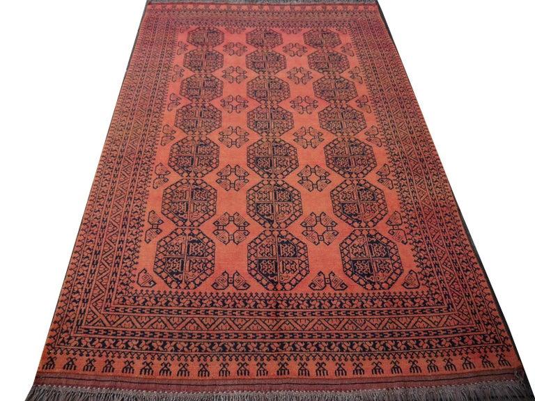 Large Ersari Tribal Turkoman Rug For Sale 4