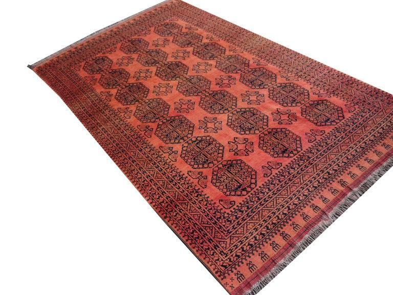 Large Ersari Tribal Turkoman Rug For Sale 7